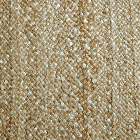 Mahal Jute Rug Collection in Arctic Gold with Narrow Cotton border in Granola
