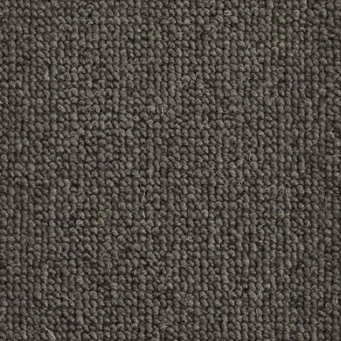 Cambridge Wool Rug Collection in Coal with Narrow Cotton border in Quarry Rock