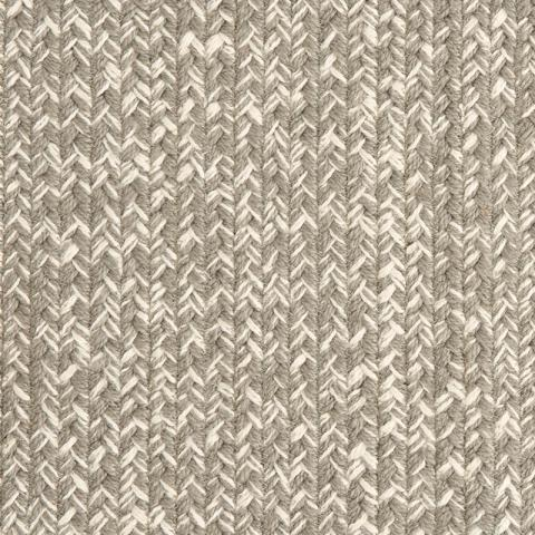 Isla Polysilk Outdoor Rug Collection in Chrome with Narrow Cotton border in Quarry Rock