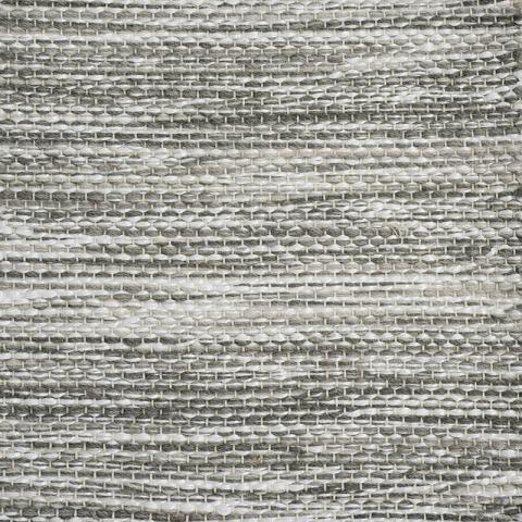Lido Wool Rug Collection in Driftwood with Narrow Cotton border in Silver Shadow