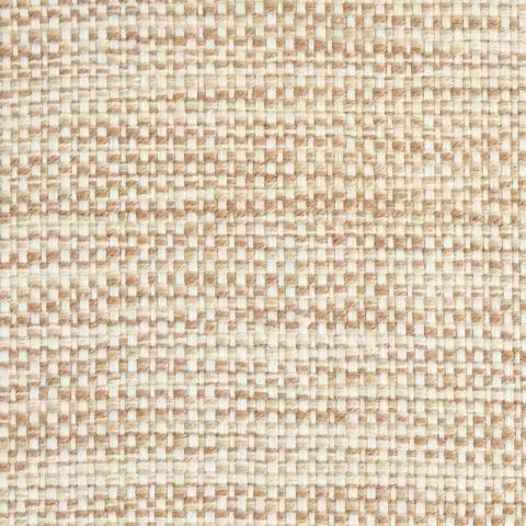 Playa Polysilk Outdoor Rug Collection in Dune with Narrow Cotton border in Alabaster