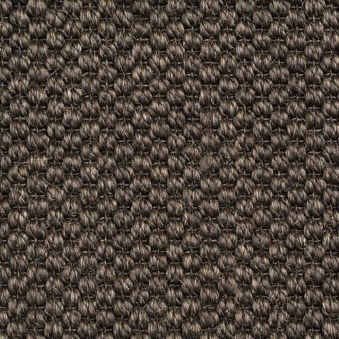 Sun Sisal Rug Collection in Eclipse with Narrow Cotton border in Black