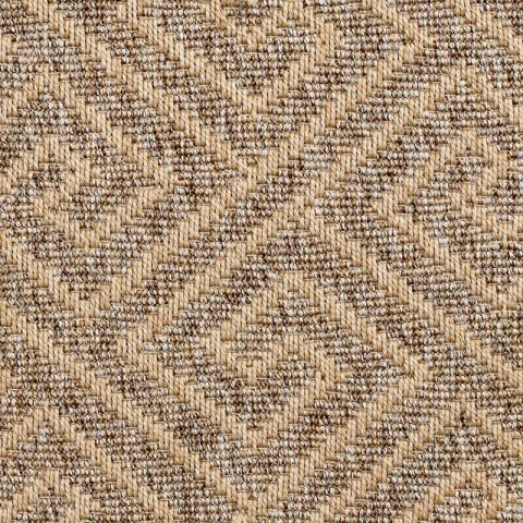 Gorda Outdoor Sisal Rug Collection in Clay with Narrow Cotton border in Harvest Haze