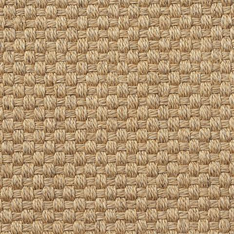 Trinidad Sisal Rug Collection in Pampas with Narrow Cotton border in Granola