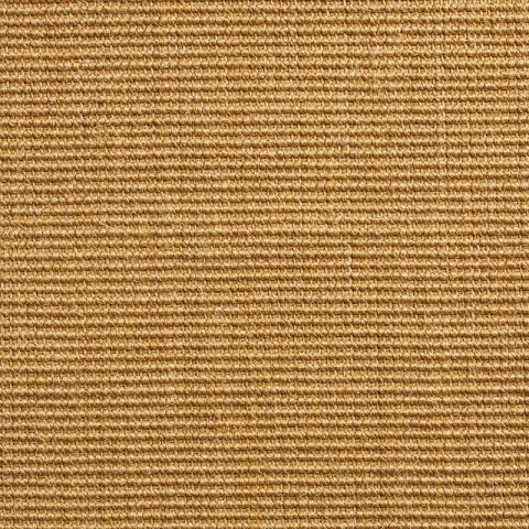 Boucle Sisal Rug Collection in Bambu with Narrow Cotton border in Butter Rum