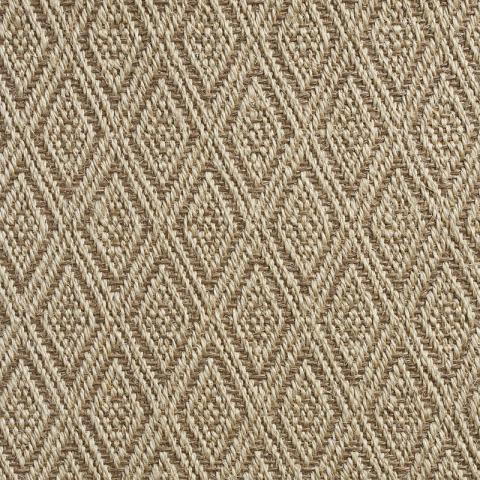Como Stain Resistant Sisal Rug Collection in Beige with Narrow Cotton border in Pistachio Shell