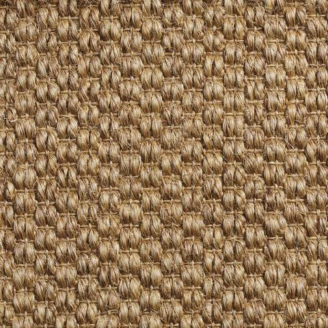 Mali Sisal Rug Collection in Basket with Narrow Cotton border in Pale Ash