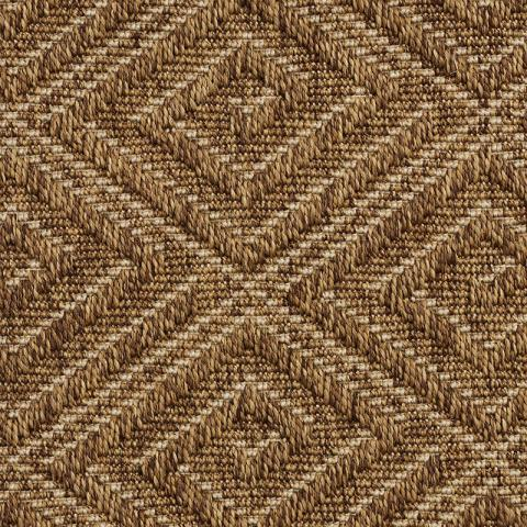 Montego Outdoor Sisal Rug Collection in Bronze with Narrow Cotton border in Bronze