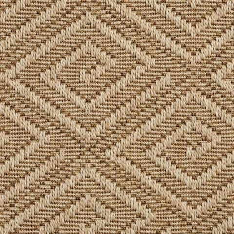 Montego Outdoor Sisal Rug Collection in Dune with Narrow Cotton border in Granola