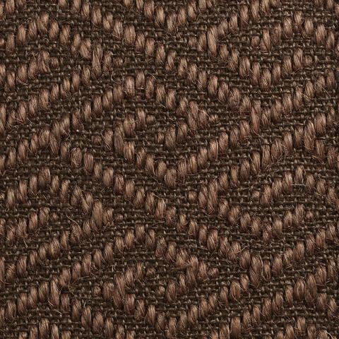 Porto Sisal Rug Collection in Dutch Cocoa with Narrow Cotton border in Bronze