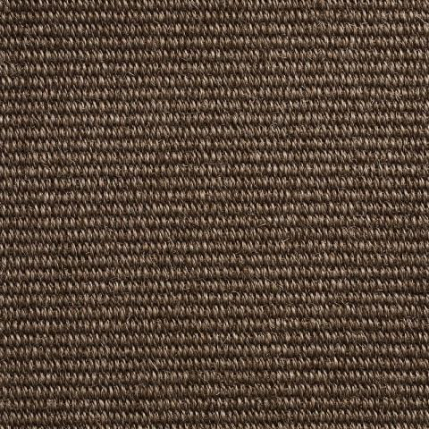 Prato Stain Resistant Sisal Rug Collection in Marron with Narrow Cotton border in Bronze