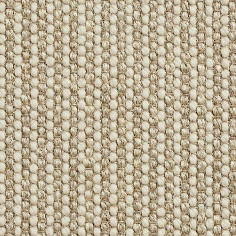 Ripple Wool Sisal Rug Collection in Natural with Narrow Cotton border in Alabaster
