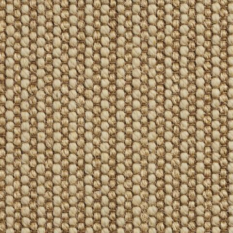 Ripple Wool Sisal Rug Collection in Palladium with Narrow Cotton border in Oatmeal
