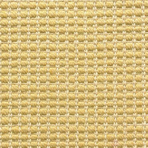 Lana Looped Wool Sisal Rug Collection in Beach with Narrow Cotton border in Straw