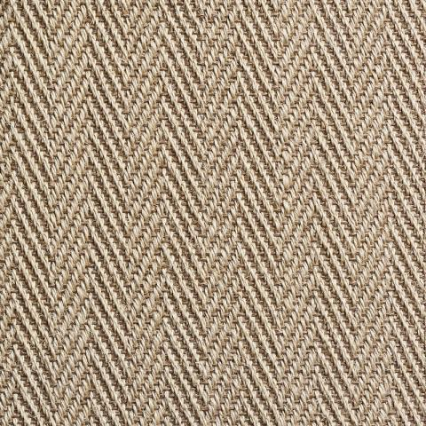 Bella Stain Resistant Sisal Rug Collection in Beige with Narrow Cotton border in Moon Rock Gray