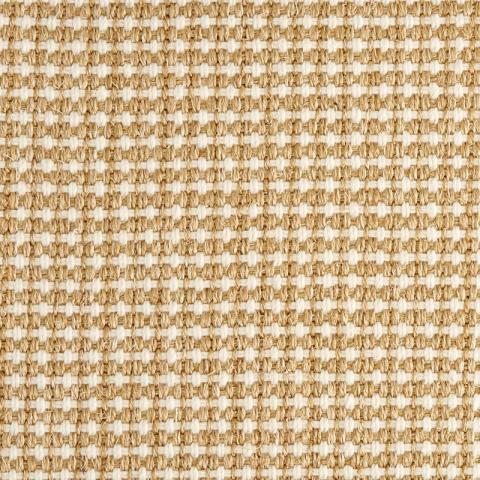 Bali Sisal Blend Rug Collection in Golden with Narrow Cotton border in Butter Rum