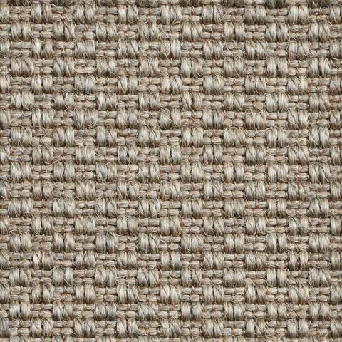 Topaz Sisal Rug Collection in Graphite with Narrow Cotton border in Dusk