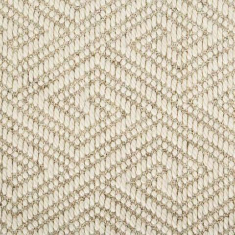 Key Wool Sisal Rug Collection in Marble with Narrow Cotton border in Ivory