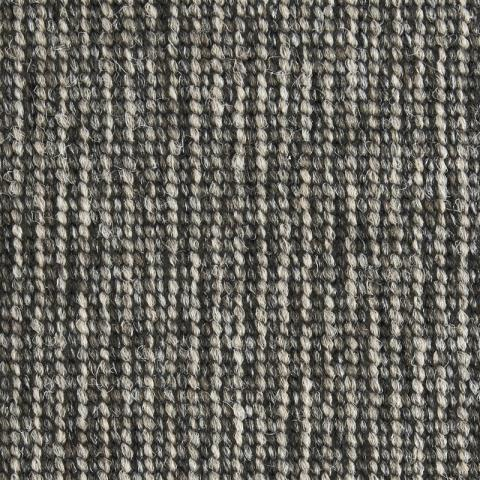 Manhattan Nylon Commercial Rugs & Carpet Collection in Pebble with Narrow Cotton border in Silver Shadow