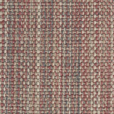 Carmen Polysilk Outdoor Rug Collection in Merlot with Narrow Cotton border in Quarry Rock