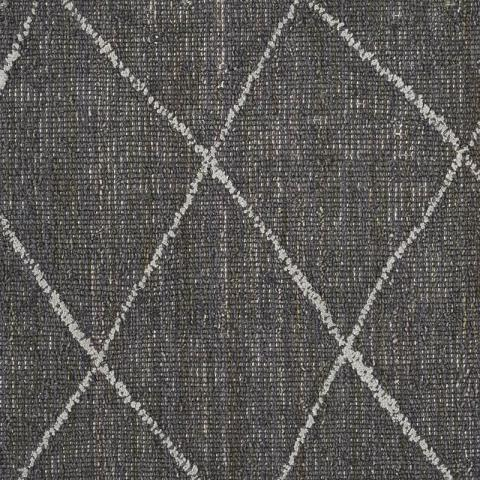 Moroccan Trellis Wool Rug Collection in Charcoal with Matching Serging border in 29750
