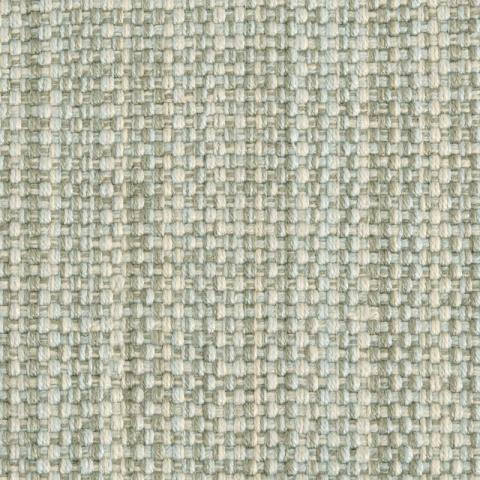 Carmen Polysilk Outdoor Rug Collection in Moss with Narrow Cotton border in Alabaster