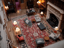 Old Antique Living Room With a Large Area Rug