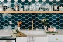 Hexagonal Kitchen Backsplash