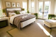 Bedroom Showing One Way to Use a Sisal Area Rug