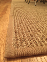 Close-Up of a Sisal Area Rug