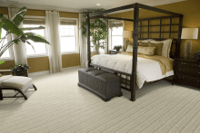 Bedroom With a Sustainable Milano Sisal Rug