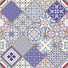 vintage turkish patchwork tile